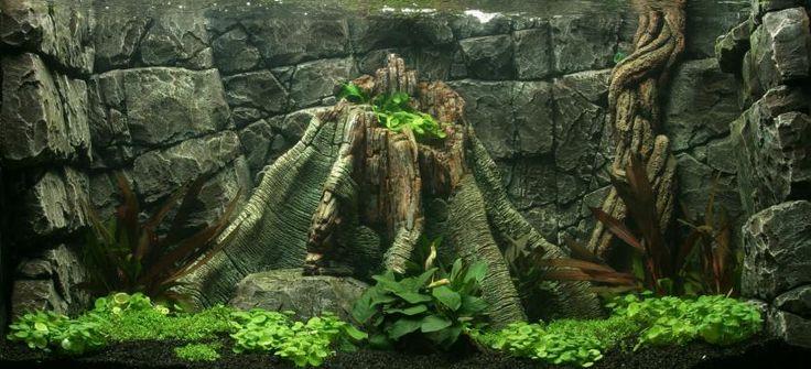 Оформление задней стенки аквариума своими руками