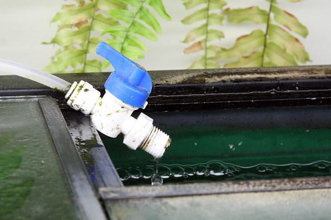 Приспособление для замены воды.