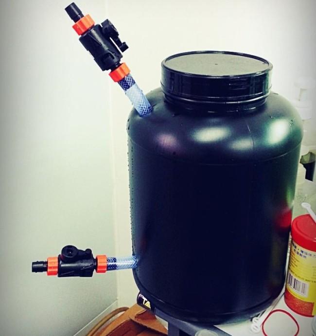 Самодельный внешний фильтр для аквариума.