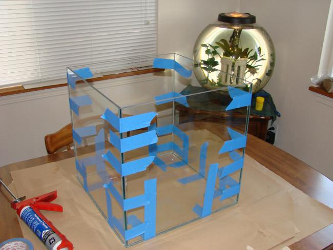 Процесс изготовления аквариума.