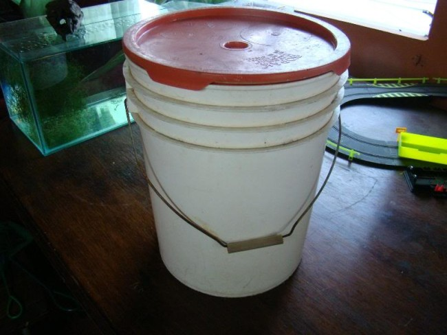 Аквариум с водоп.роводной водой.